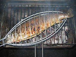 Barbecue Salmon Recipes - Stuffed with Salsa Verde