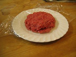 The raw meat for my grilled hamburger recipes