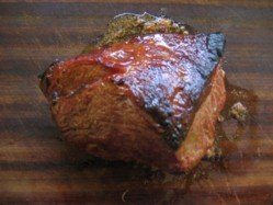 Barbecue chuck roast ready for carving