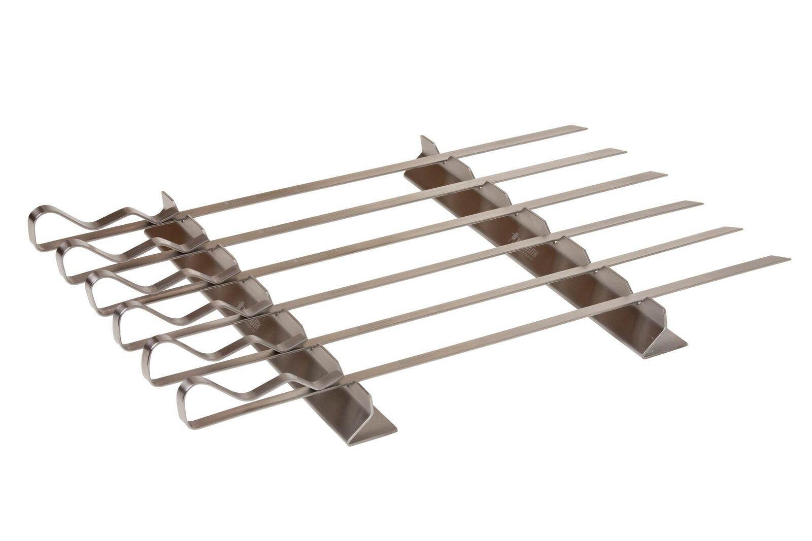 6 Stainless Steel Skewer Set