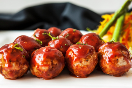 When barbecue meatballs recipes turn out looking like this...