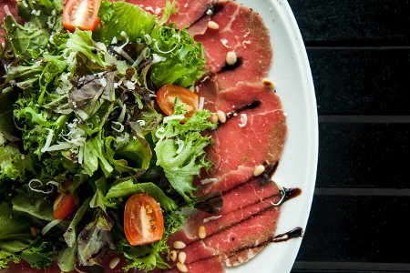 A barbecue roast beef salad is very similar to a carpaccio