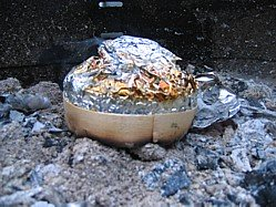 Camembert on the embers