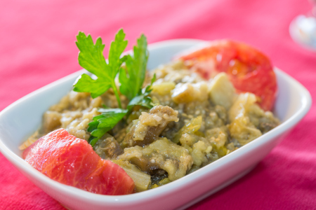 bbq egglant salad (aubergine)