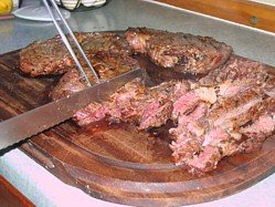 Barbecue Roast Beef Fiorentina - How succulent is that?