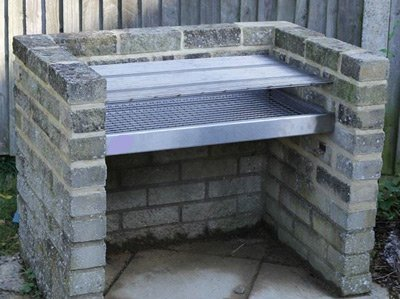 Our step by step guide will help you build a brick BBQ grill like this one