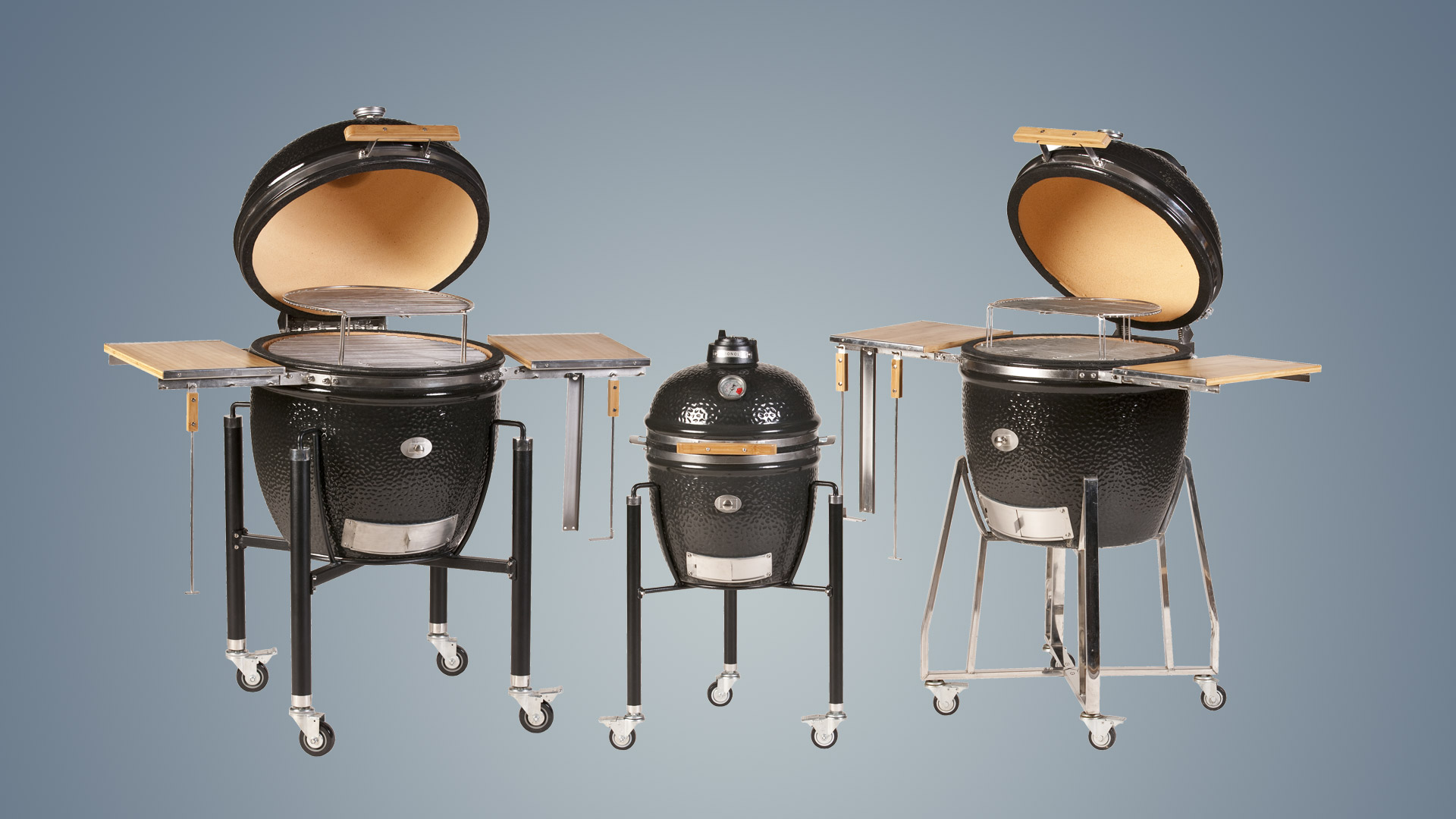Monolith kamado barbecue range of three sizes