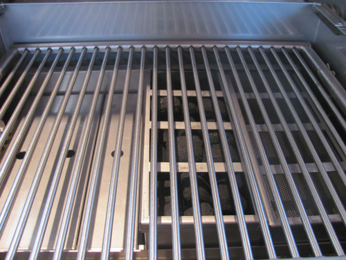 Jensen outdoor bbq grill set up for searing