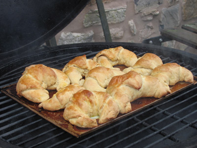 kamado baked croissants
