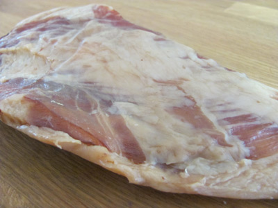 Guanciale is made from the jowl