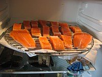 Image Of Salmon Curing In The Refrigerator