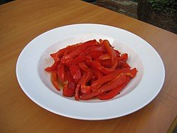 Fire Roasted Red Pepper Salad