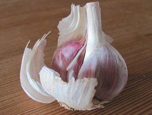 how to peel garlic: this is the garlic bulb