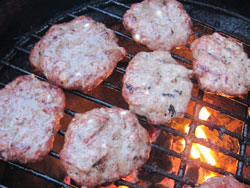 Greek lamb burger recipe over charcoal