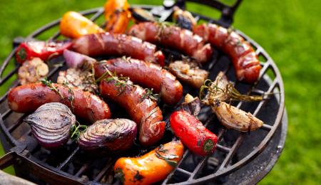 Grilled Polish Sausage and Veggies