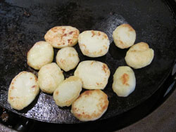 Grilled Potato Slices
