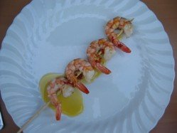 Here Are The Shrimps With A Chili Drizzle
