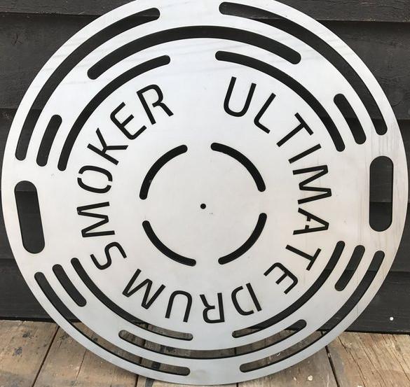 Ultimate Drum Smoker Laser Cut Logo