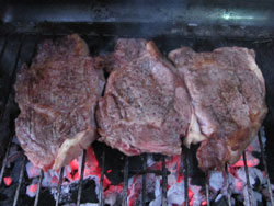 How To Grill Steaks Over Hot Coals