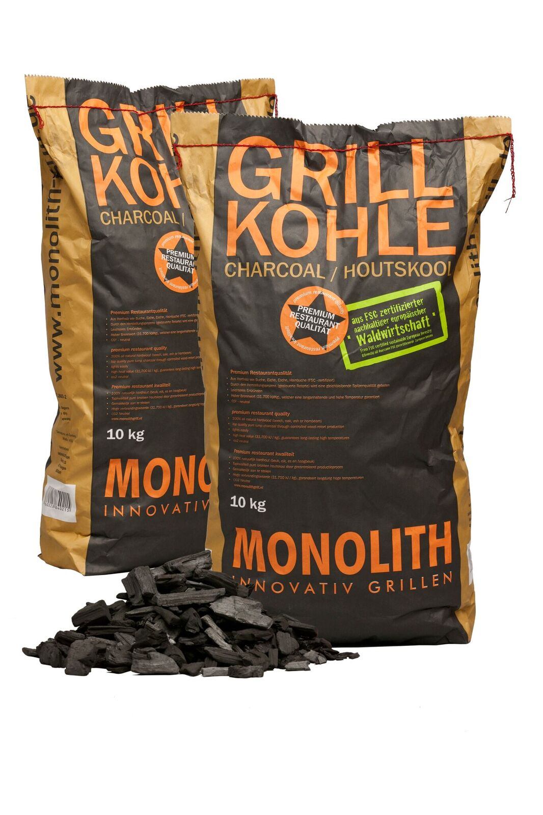Monolith kamado charcoal