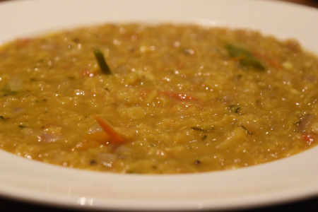 Easy Keralan Lentil Dal, just add rice, naan bread or chips