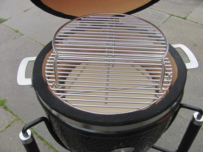 The heat deflector stone and 2nd tier cooking rack are included with the Monolith Junior