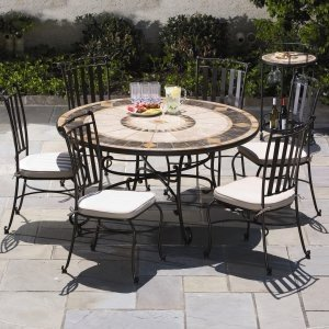 Wrought iron outside dining set