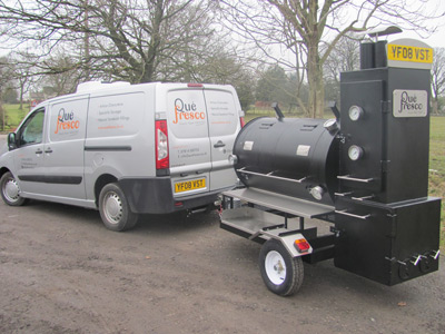 BBQ catering throughout Lancashire with our custom made trailer smoker