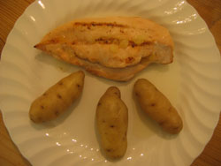 grilled pineapple chicken with new potatoes