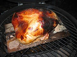 Plank Cooked Turkey Ready To Carve