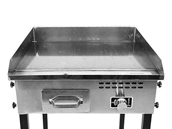 Propane plancha barbecue grill