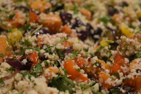 Kamado Cauliflower Couscous & Roasted Veggies