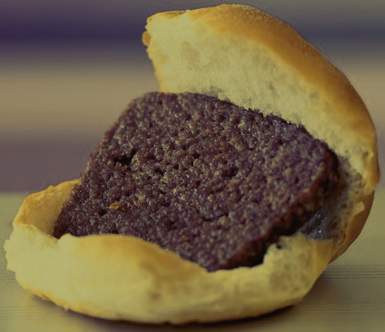 Scottish Lorne Sausage is served in a plain white roll