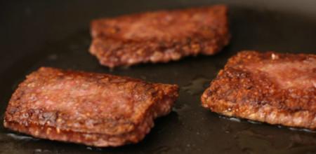 Scottish Lorne Sausage On The Griddle