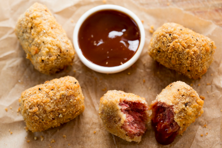 Brisket Hash Croquettes With Southern BBQ Sauce